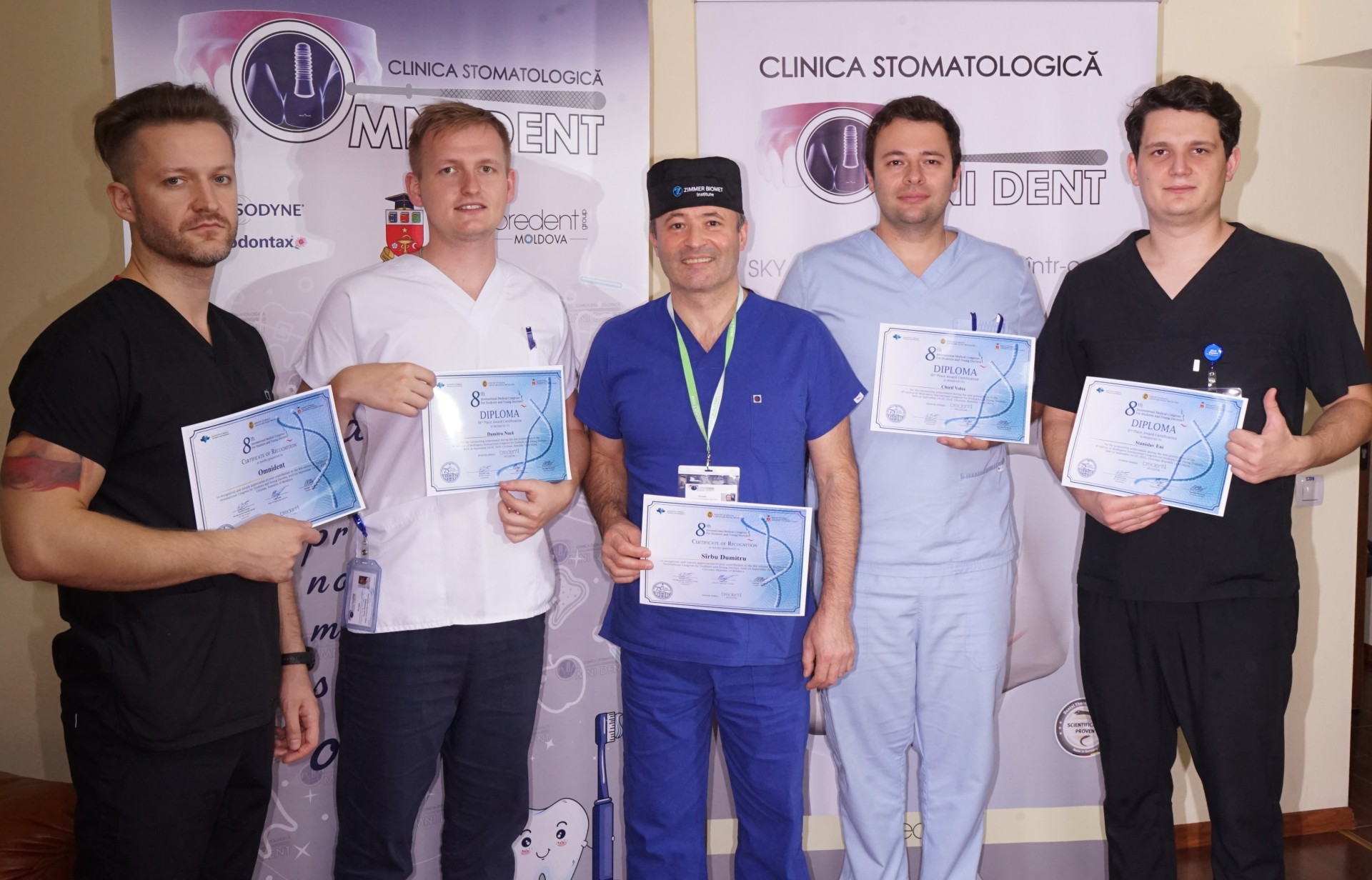 "3 doctors from the ""Omni Dent"" Dental Clinic were awarded at the MedEspera 2020 International Congress"