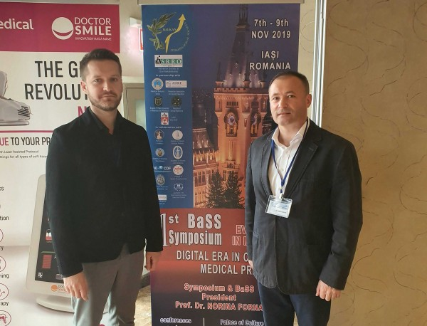 Moldovan health ambassadors reporters at the first symposium of The Balkan Society of Dentistry, Iasi